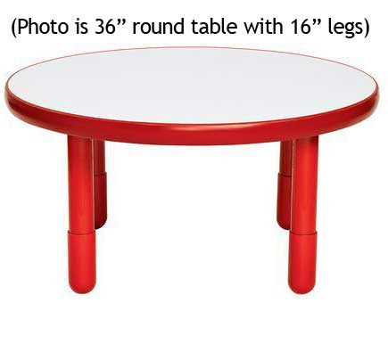 "Angeles BaseLine 36"" Round Diameter Table 18"" Legs - Candy Apple Red"