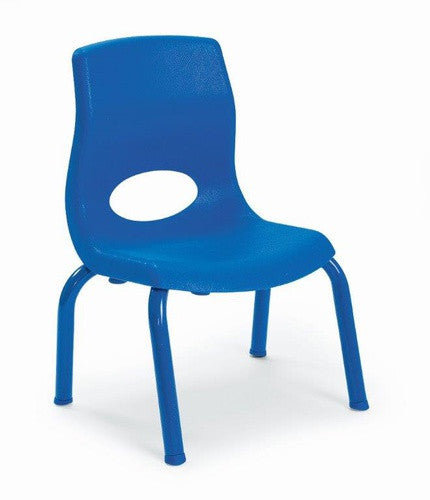 "Angeles AB8008PB MyPosture 8"" Chair Royal Blue - The Creativity Institute"