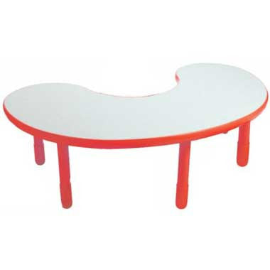 "Angeles BaseLine Kidney Table 18"" Legs - Candy Apple Red"