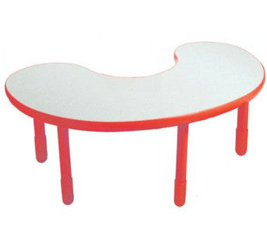 "Angeles BaseLine Kidney Table 22"" Legs - Candy Apple Red"