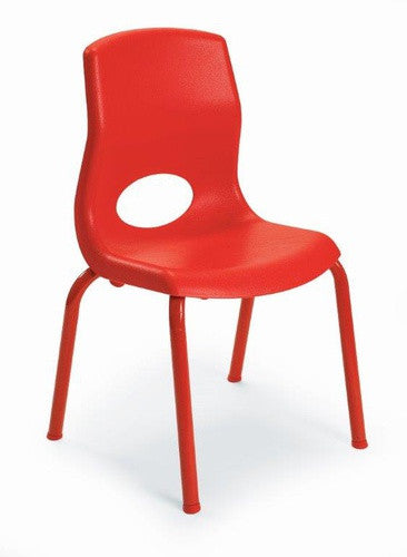 "Angeles AB8012PR4 MyPosture 12"" Chair 4 Pack - Red"