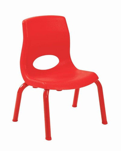 "Angeles AB8010PR4 MyPosture 10"" Chair 4 Pack - Red"