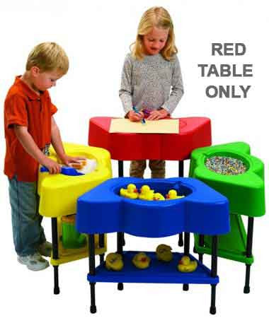 Angeles AFB5100PR Sensory/Activity Table - Candy Apple Red