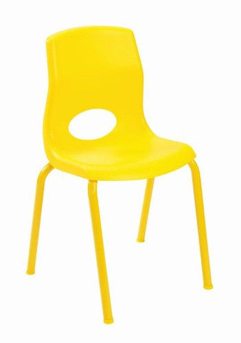 "Angeles AB8014PY4 MyPosture 14"" Chair 4 Pack - Yellow - The Creativity Institute"