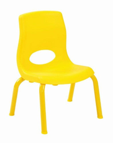 "Angeles AB8008PY4 MyPosture 8"" Chair 4 Pack - Yellow"