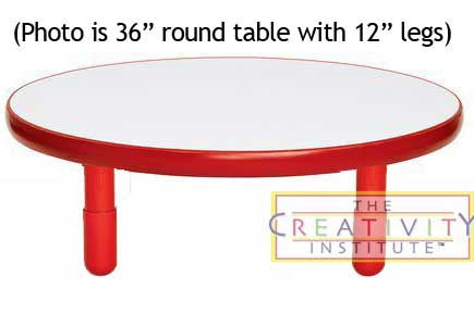 "Angeles BaseLine 36"" Round Diameter Table 14"" Legs - Candy Apple Red"