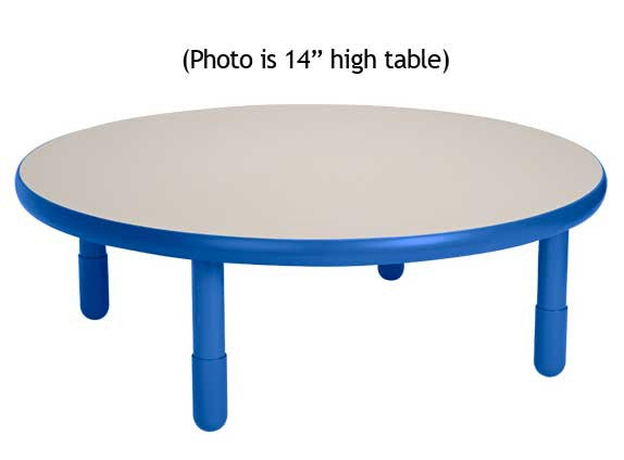 "Angeles BaseLine 36"" Round Diameter Table 12"" Legs - Royal Blue - The Creativity Institute"