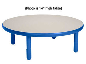 "Angeles BaseLine 36"" Round Diameter Table 12"" Legs - Royal Blue"