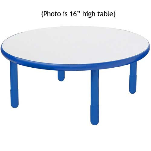 "Angeles BaseLine 36"" Round Diameter Table 20"" Legs - Royal Blue"