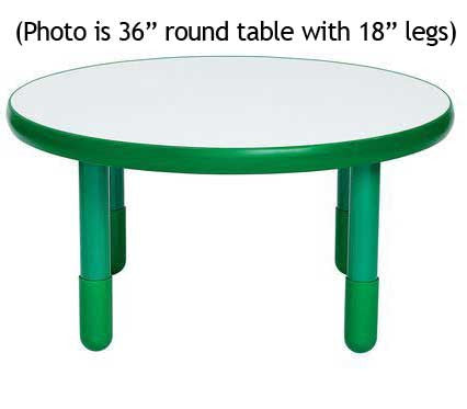 "Angeles BaseLine 36"" Round Diameter Table 22"" Legs - Shamrock Green"