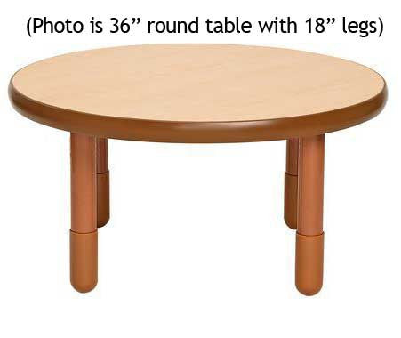 "Angeles BaseLine 36"" Round Diameter Table 16"" Legs - Natural"