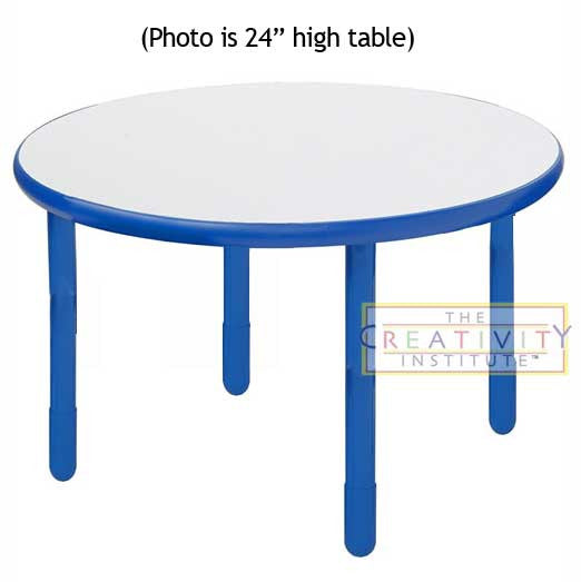 "Angeles BaseLine 36"" Round Diameter Table 22"" Legs - Royal Blue"