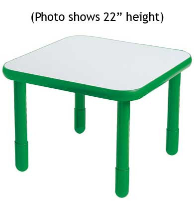 "Angeles 30"" Square BaseLine Table 20"" Legs - Shamrock Green"