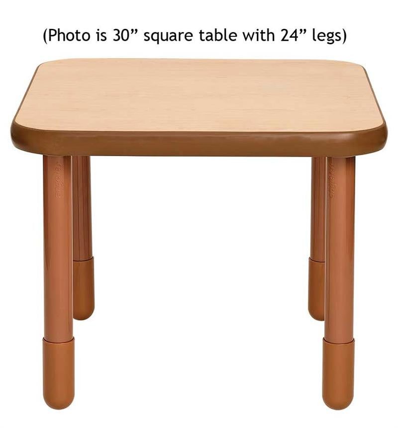 "Angeles 30"" Square BaseLine Table 22"" Legs - Natural"