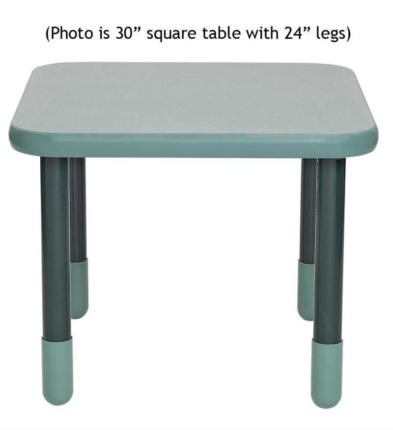 "Angeles 30"" Square BaseLine Table 22"" Legs - Teal"