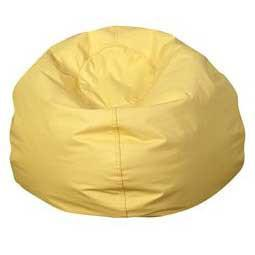 "Children's Factory CF610-048 35"" Dia. Yellow Bean Bag Chair"