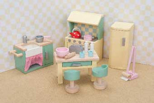 Le Toy Van ME059 Rosebud Daisylane Kitchen Set Dollhouse Furniture