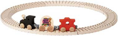 Maple Landmark Wooden 3-Car Easter Train