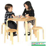 Guidecraft G81045 Nordic Table & Chairs Set - Natural