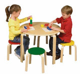 Guidecraft G81046 Nordic Table & Chairs Set - Color