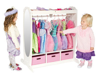 Guidecraft G98098 Dress-Up Storage Center: White