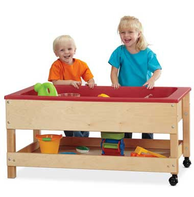 Jonti-Craft 2866JC Sensory Table with Shelf Toddler Height 20""