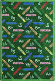 "Joy Carpets Crayons 5'4"" X 7'8"" Area Rug - Green"