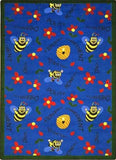 "Joy Carpets 1451D Bee Attitudes 7'8"" x 10'9"" Area Rug - Blue"