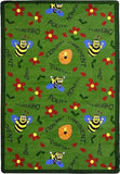 "Joy Carpets 1451B Bee Attitudes 3'10"" x 5'4"" Area Rug - Green"