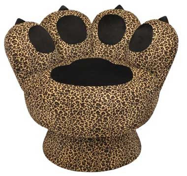 LumiSource Paw Chair Leopard