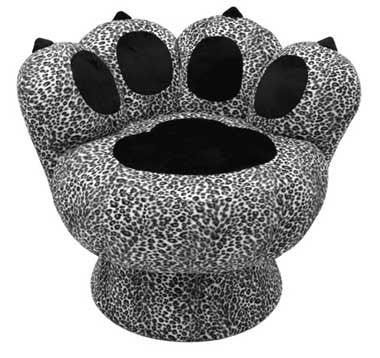 LumiSource Paw Chair Snow Leopard