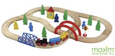 Maxim 40-Piece Wooden Train Set - 50028