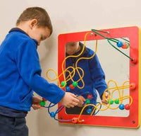 CFC Mirror & Bead Framed Wall Activity - Red Frame - The Creativity Institute