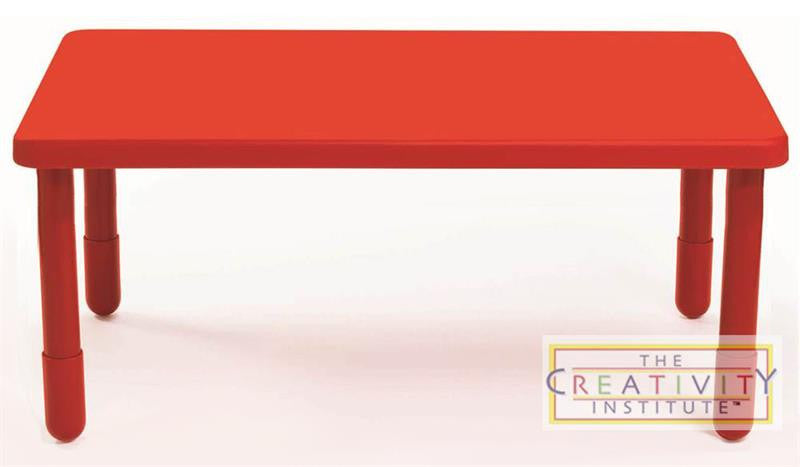 "Angeles 48"" x 28"" Rectangle Value Table 20"" Legs - Candy Apple Red - The Creativity Institute"