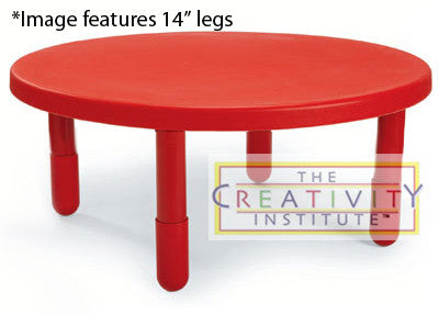 "Angeles 36"" Round Value Table 12"" Legs - Candy Apple Red"
