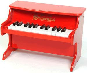 Schoenhut 2522R 25-Key My First Piano II Toy Piano - Red