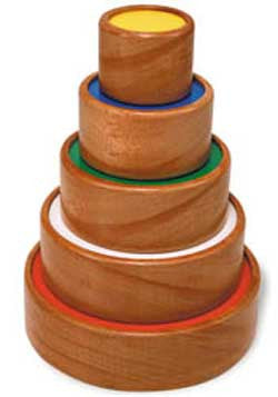 TAG Toys ES-15 Wooden Circle Tower