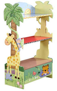 Teamson Kids Sunny Safari 3-Level Bookcase W-8268A