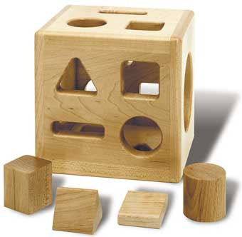 TAG Toys Solid Maple Sorting Cube - ESC-8 - The Creativity Institute