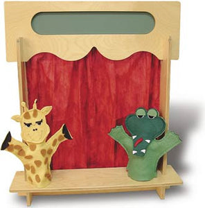TAG Toys Wooden Puppet Theater Table Top Puppet Stage - P22 - The Creativity Institute