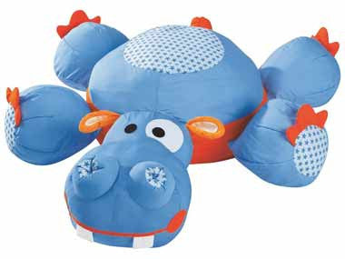 Wesco Giant Animal Cushion Sam the Hippopotamus - 46691