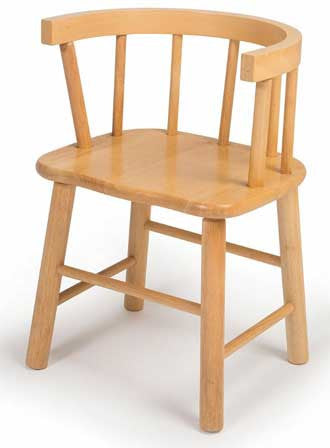 Whitney Brothers WB0178 Bentwood Back Hardwood Chair