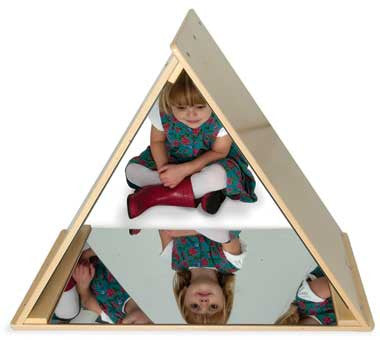 Whitney Brothers WB0719 Triangle Mirror Tent - The Creativity Institute