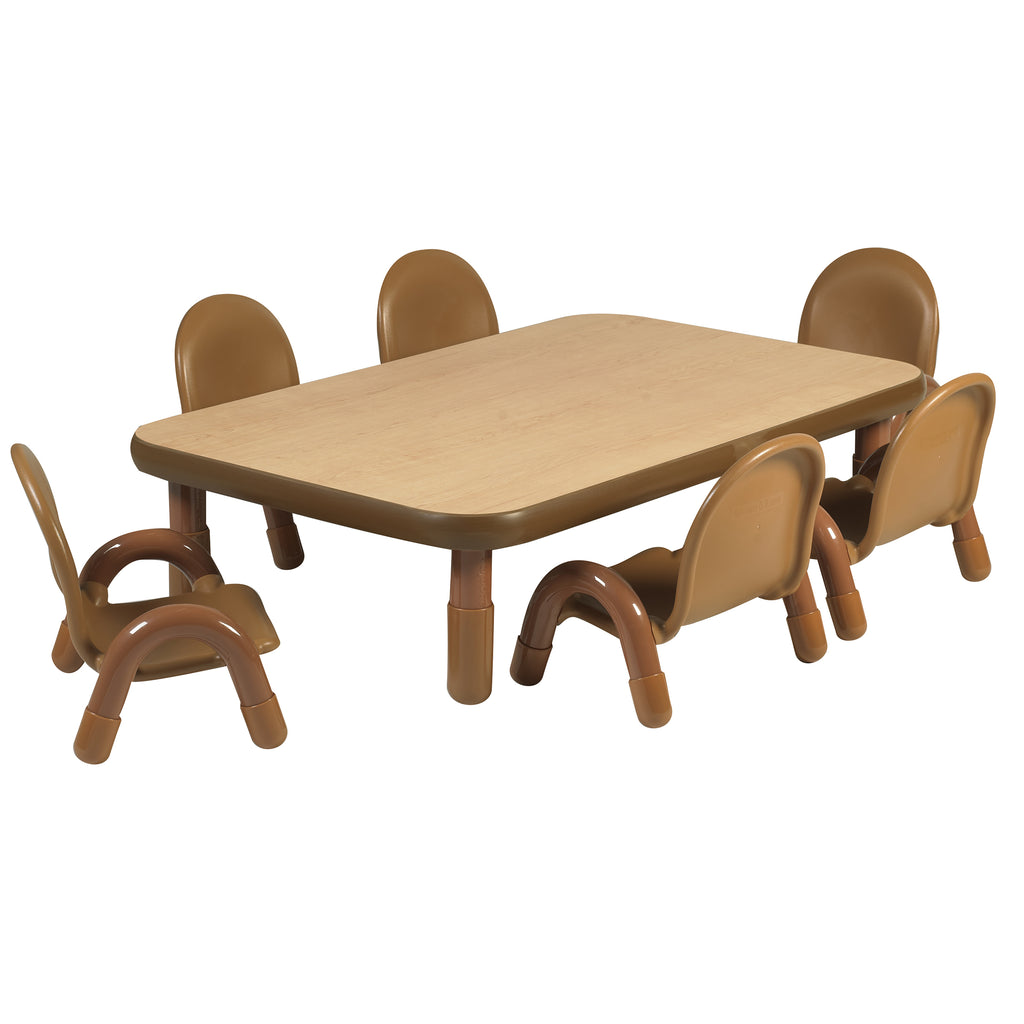 "BaseLine Toddler 48"" x 30"" Rectangular Table & Chair Set"