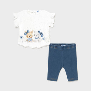 Conjunto Bebé Niña Leggings Denim Mayoral