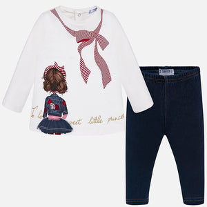 Conjunto Bebe Niña Leggings Mayoral