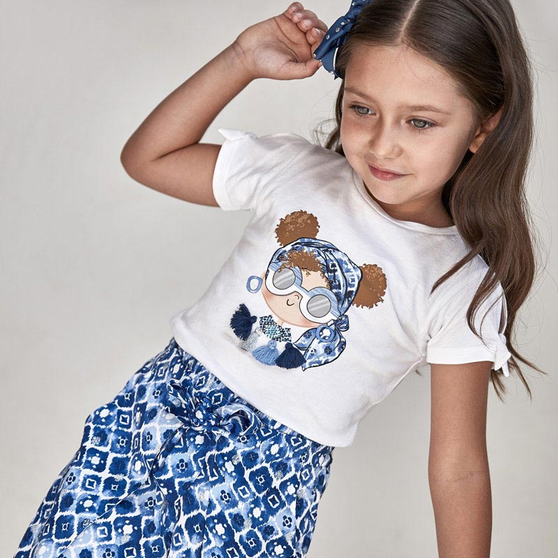 Camiseta Niña Ecofriends Aplique Mayoral