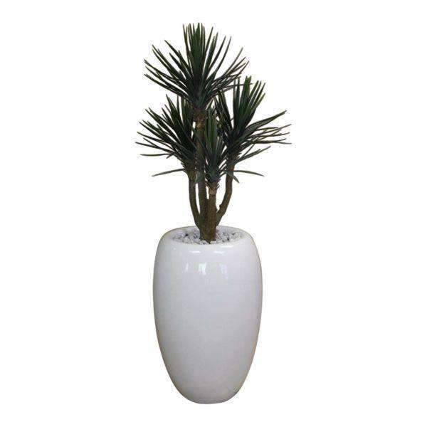 76cm Baby Yucca x 4 heads in Bubble Fibreglass Urn