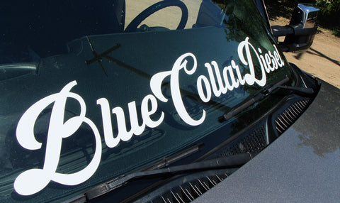 Blue Collar Diesel- Windshield Banner