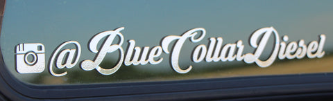 Blue Collar Diesel- Large Sticker